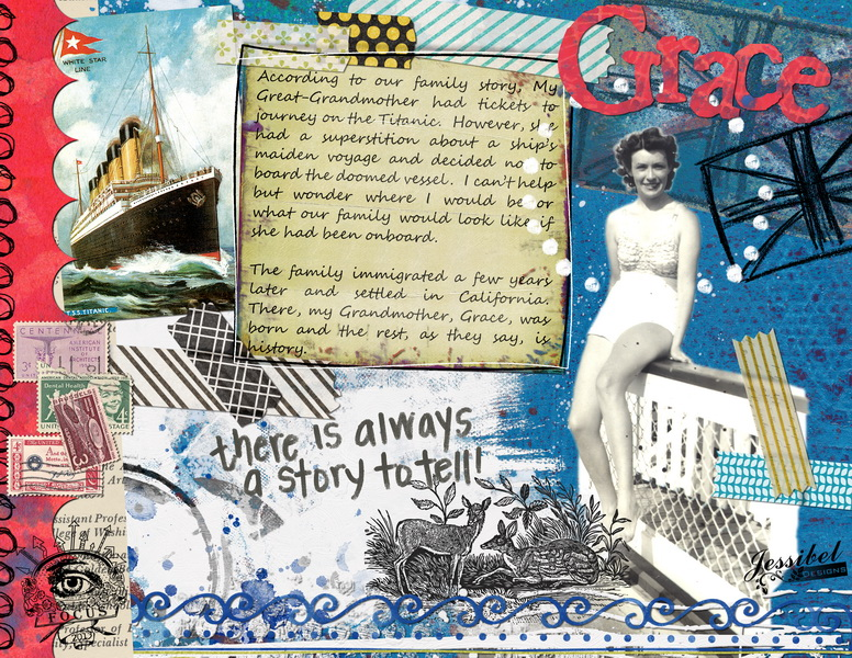 Titanic Family Story Digital Journal by Jessibel Designs - Jessica Dickerson