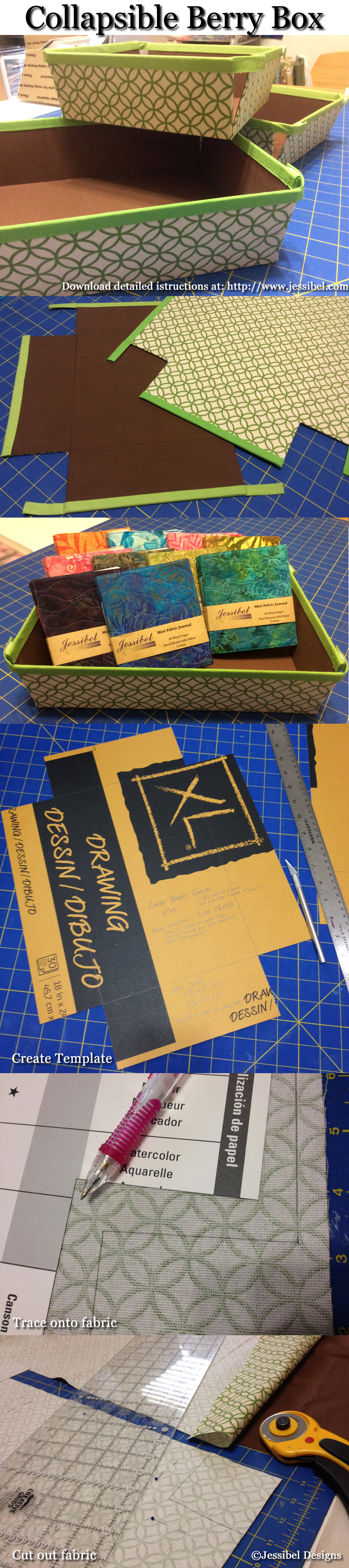 Collapsible Boxes by Jessibel Designs